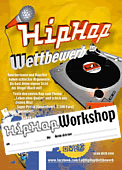 Plakat HipHop Workshop-Aufkleber <small>DIN A2</small>