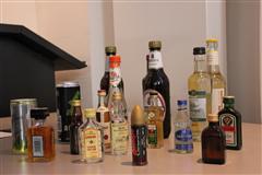 Ansichtsmaterial alkoholische Getränke