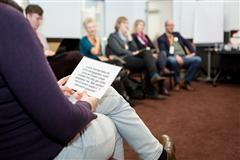 Teilnehmende bei der MOVE-Session des openTransferCamps 2015
