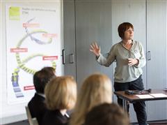 Frauke Sonnenberg in ihrem Workshop zum Transtheoretischen Modell der Veränderung