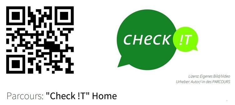 "QR-Code für den BiParcours ""Check it! Home"""